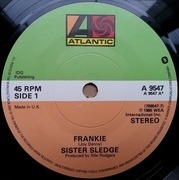 7'' - Sister Sledge - Frankie - Paper Labels