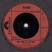 7inch Vinyl Single - Slade - The Bangin' Man - Small Centre Hole