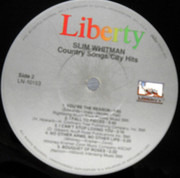 LP - Slim Whitman - Country Songs / City Hits