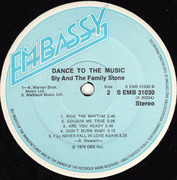 LP - Sly & The Family Stone - Dance To The Music