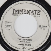7inch Vinyl Single - Small Faces - The Universal B/W Donkey Rides A Penny A Throw