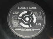 7inch Vinyl Single - Soul II Soul - Missing You - Paper labels