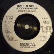 7'' - Soul II Soul - Missing You - Injection-moulded labels
