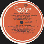 LP - Stan Kenton And His Orchestra - Artistry In Rhythm