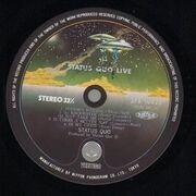 Double LP - Status Quo - Live - Original 1st Japanese + OBI + OIS + Insert