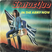 7inch Vinyl Single - Status Quo - In The Army Now - Silver Injection Moulded Labels