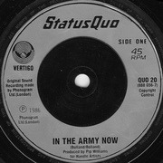 7'' - Status Quo - In The Army Now - Silver Injection-print Labels