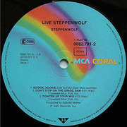 Double LP - Steppenwolf - Live