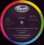 12inch Vinyl Single - Steve Miller Band - I Want To Make The World Turn Around / Slinky
