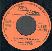 7inch Vinyl Single - Stevie Wonder - I Was Made To Love Her