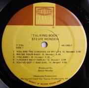 LP - Stevie Wonder - Talking Book - Superior Pressing, Gatefold, No Braille