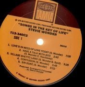 Double LP - Stevie Wonder - Songs In The Key Of Life