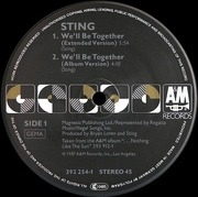 12'' - Sting - We'll Be Together