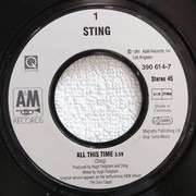 7inch Vinyl Single - Sting - All This Time / I Miss You Kate (Instrumental) (Vinyl Single)