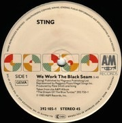 12inch Vinyl Single - Sting - We Work The Black Seam