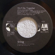 7inch Vinyl Single - Sting - We'll Be Together - Presswell
