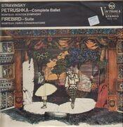 LP - Stravinsky - Pierre Monteux w/ Boston Symph. & Paris Cons. - Petrouschka (1911) / Firebird