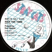 7'' - Stray Cats - Rock This Town - Paper Labels
