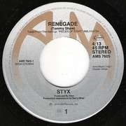 7'' - Styx - Renegade
