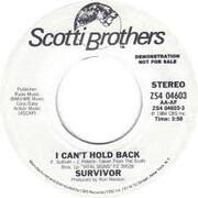 7inch Vinyl Single - Survivor - I Can't Hold Back