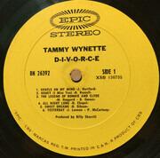 LP - Tammy Wynette - D-I-V-O-R-C-E