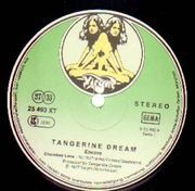 Double LP - Tangerine Dream - Encore - green twin labels