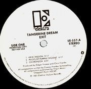LP - Tangerine Dream - Exit - White label promo
