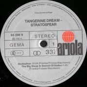 LP - Tangerine Dream - Stratosfear