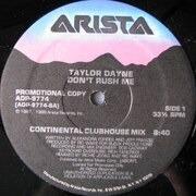 12'' - Taylor Dayne - Don't Rush Me