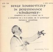 Double LP - Tchaikovsky - Serge Koussevitsky In Performance - Gatefold