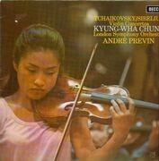 LP - Tchaikovsky, Sibelius - Violin Concertos,, Kyung-Wha Chung, LSO, Andre Previn