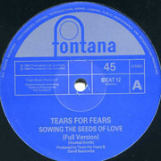 12inch Vinyl Single - Tears For Fears - Sowing The Seeds Of Love