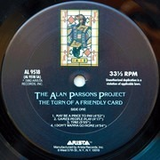 LP - The Alan Parsons Project - The Turn Of A Friendly Card - Santa Maria Pressing