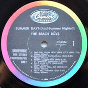 LP - The Beach Boys - Summer Days (And Summer Nights!!) - Duophonic