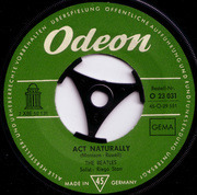 7inch Vinyl Single - The Beatles - Act Naturally / Yesterday