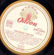 LP - The Beatles - Beatles' Greatest - RED / GOLD ODEON