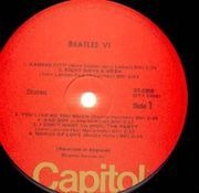 LP - The Beatles - Beatles VI - RED CAPITOL LABELS