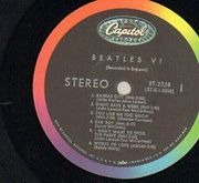 LP - The Beatles - Beatles VI - RAINBOW CAPITOL