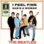 7'' - The Beatles - I Feel Fine / She's A Woman - PICTURE SLEEVE