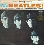 LP - The Beatles - Meet The Beatles! - RED CAPITOL LABELS