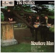 7inch Vinyl Single - The Beatles - Nowhere Man - Push-out center