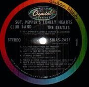 LP - The Beatles - Sgt. Pepper's Lonely Hearts Club Band - USA COLOURBAND