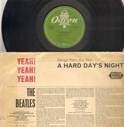 LP - The Beatles - A Hard Day's Night - ORIGINAL GREEN ODEON MONO Yeah! Yeah! Yeah!