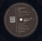 LP - The Beatles - A Hard Day's Night - OBI + lyric sheet
