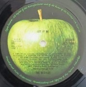 LP - The Beatles - Let It Be - UK GREEN APPLE