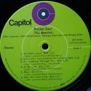 LP - The Beatles - Rubber Soul - Lime Green Labels