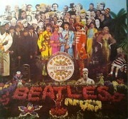 LP - The Beatles - Sgt. Pepper's Lonely Hearts Club Band - w cutout card, odeon labels