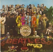 LP - The Beatles - Sgt. Pepper's Lonely Hearts Club Band - w CUT OUT CARD, BLUE EMI ODEON