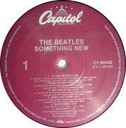LP - The Beatles - Something New - US PURPLE LABELS