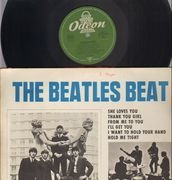 LP - The Beatles - The Beatles Beat - green odeon, original german mono